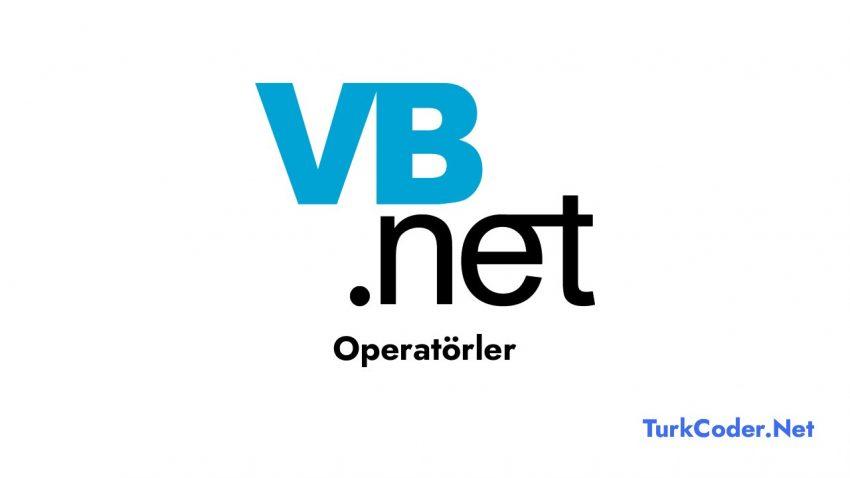 Vb.Net Operatörler