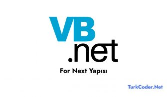 Vb.Net For Next Yapısı